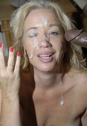 Hot MILF Facial Porn Pictures